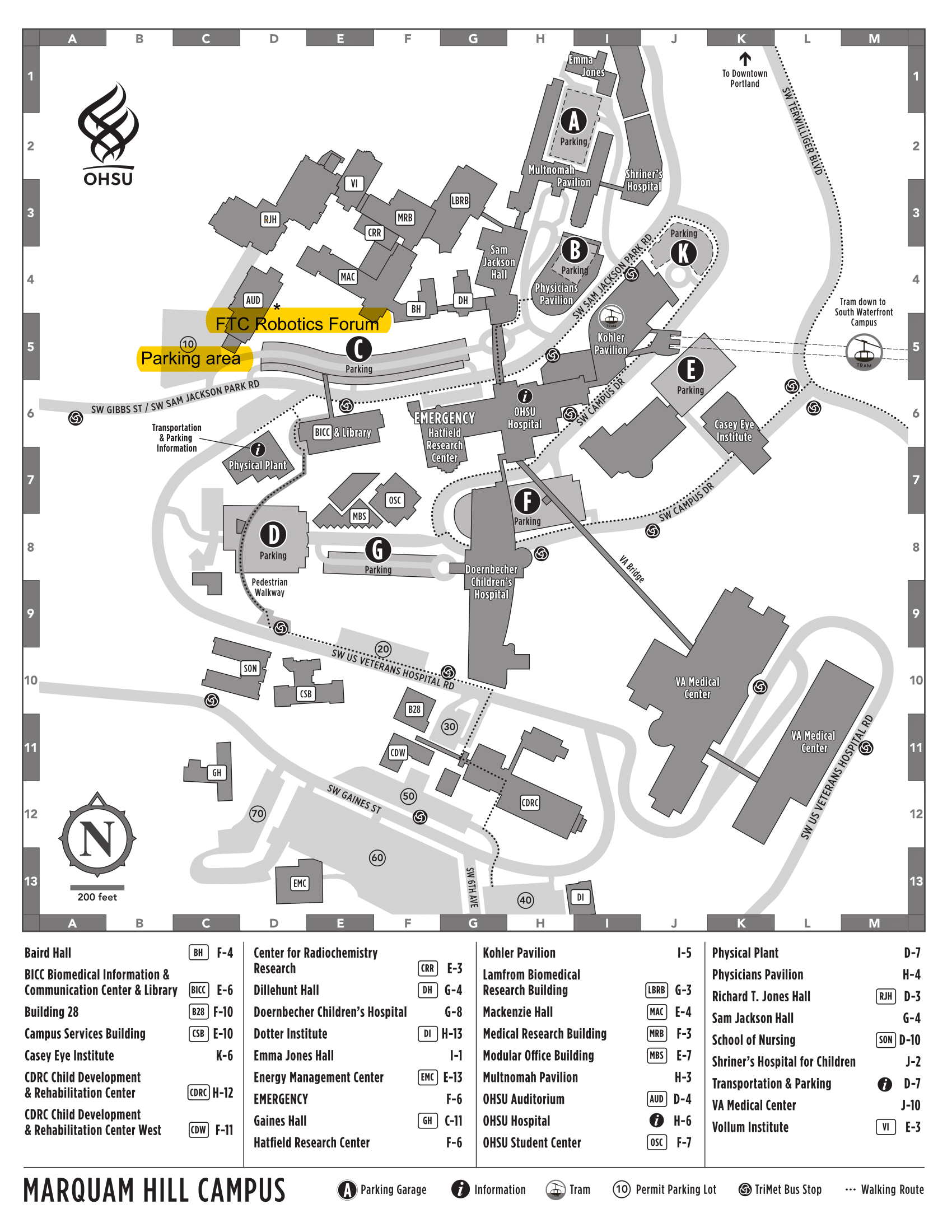 OHSU Map for FTC Robotics Forum