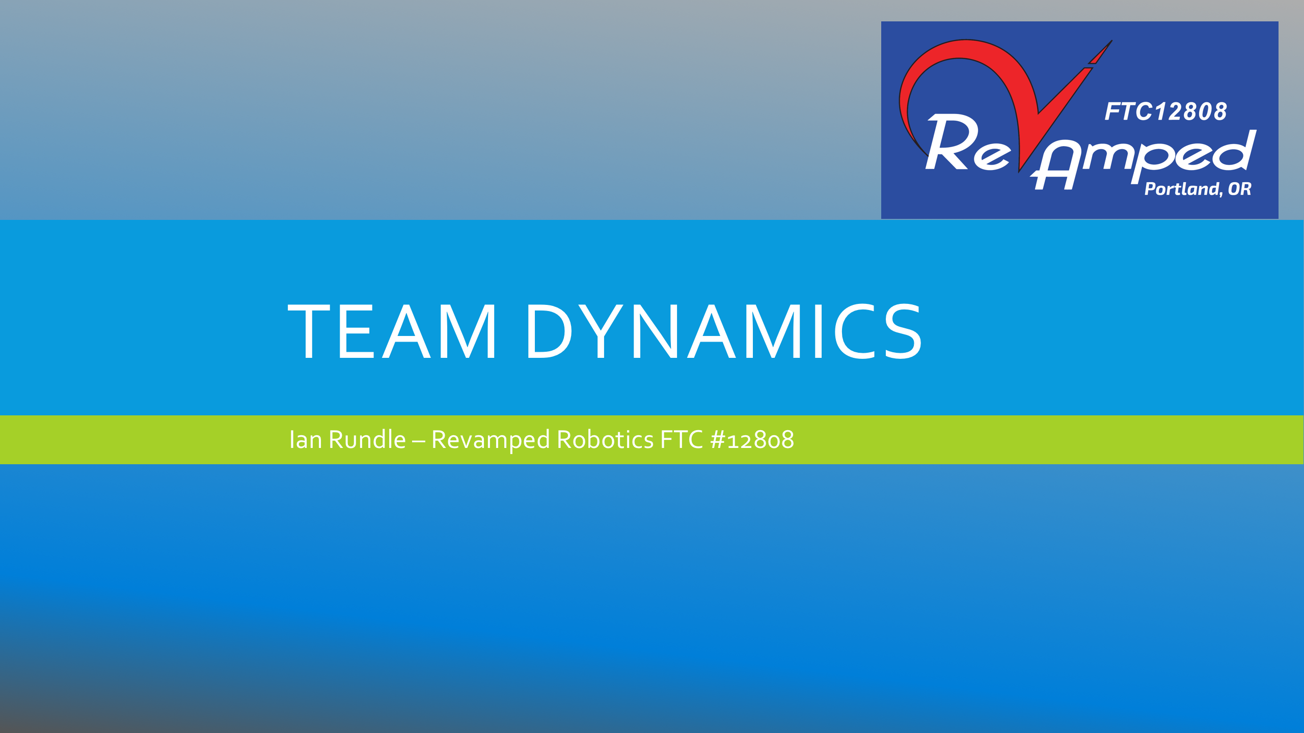 Team Dynamics by RevAmped Robotics